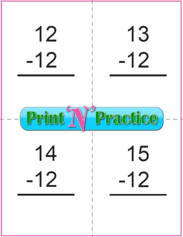 50+ Kindergarten Subtraction Worksheets  Practice For Kids