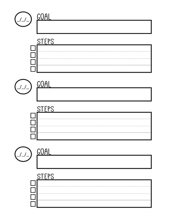 Goal Setting Template Free Download & Guide Goal Pyramid