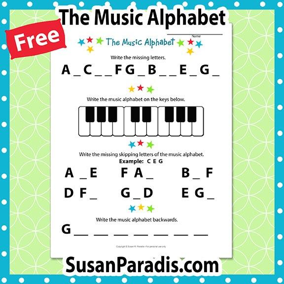 I Can Write The Music Alphabet Worksheet