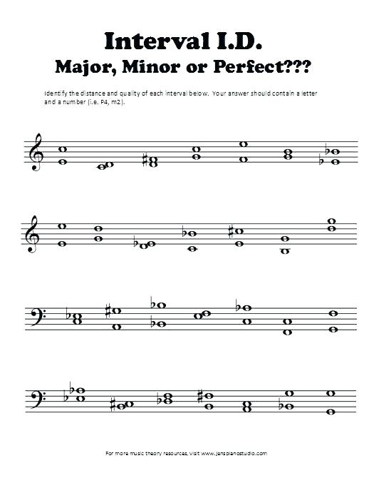 Intervals Worksheet The Music Theory Intervals Worksheet Answers