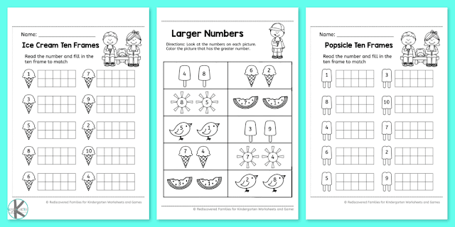 Free Summer Kindergarten Math Worksheets – Kindergarten Worksheets