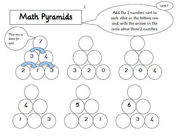 Maths Pyramids For Mental Maths Practice