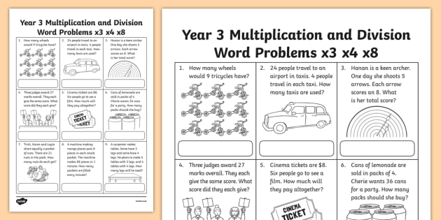 Multiplication And Division Worksheets Grade 3 Calligraphy