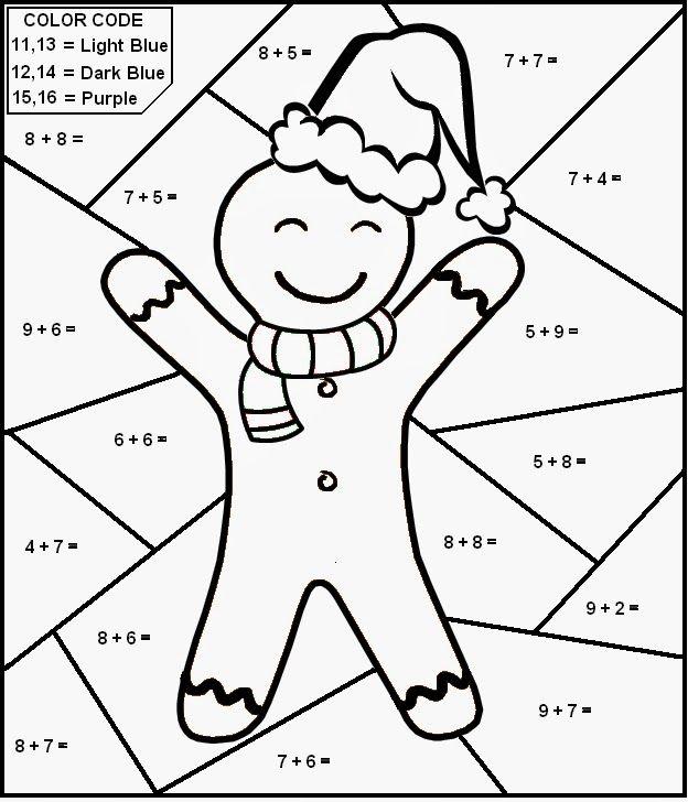 Christmas Multiplication Coloring Sheets Naruseiya Multiplication