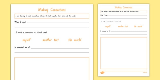 Making Connections Worksheet   Worksheet, Worksheet