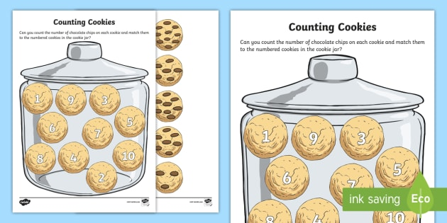 Counting Cookies Worksheet   Worksheet