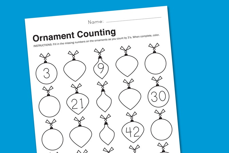 Free Printable Holiday Worksheets For Math