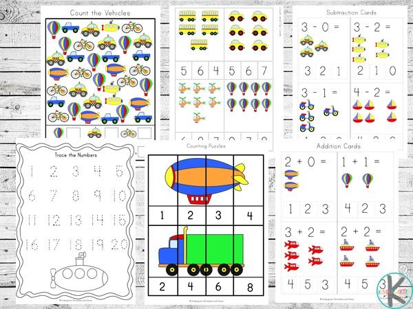 Transportation Preschool Worksheets – Kindergarten Worksheets And
