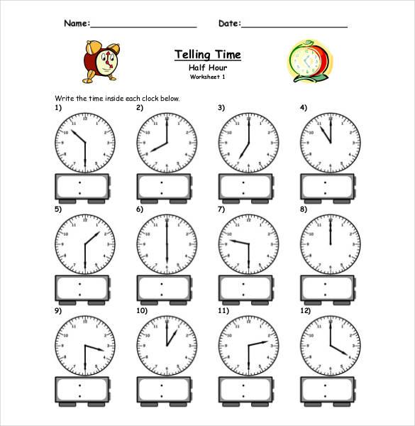 Printable Time Clock Sheets