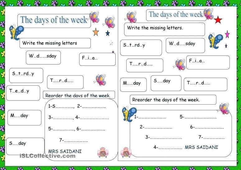 Printable Days Of The Week Days Of The Week Display Banner