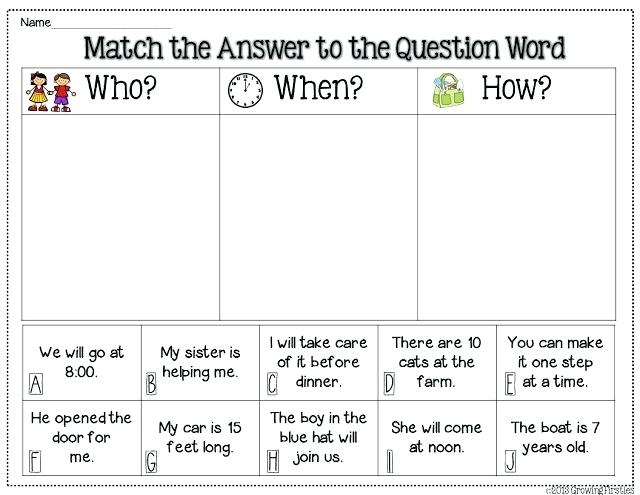 Questions Free Language Stuff Answering Wh Worksheets More