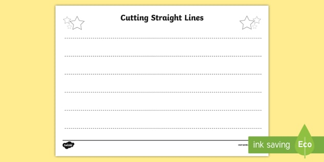 Cutting Straight Lines Worksheet   Worksheet