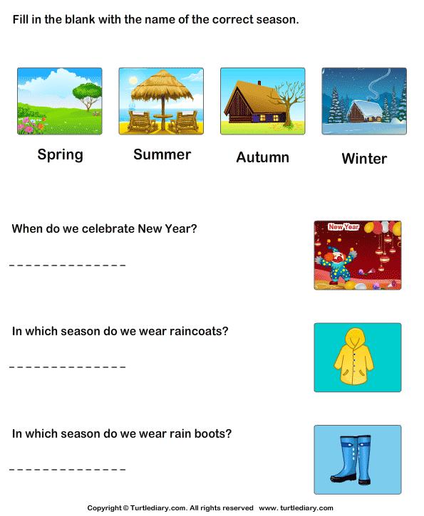Seasons Of The Year Worksheet