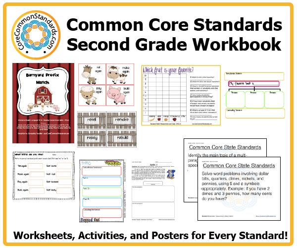 Second Grade Common Core Workbook Paperback
