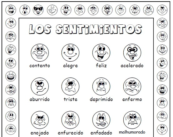 Sentimientos (feelings In Spanish) Activity Set
