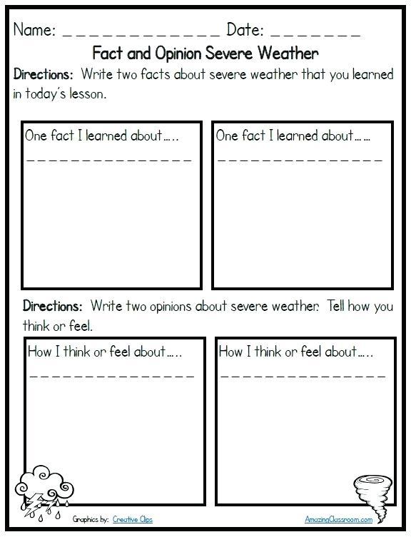Severe Weather Lesson Plans 2nd Grade Weather Worksheets For Grade