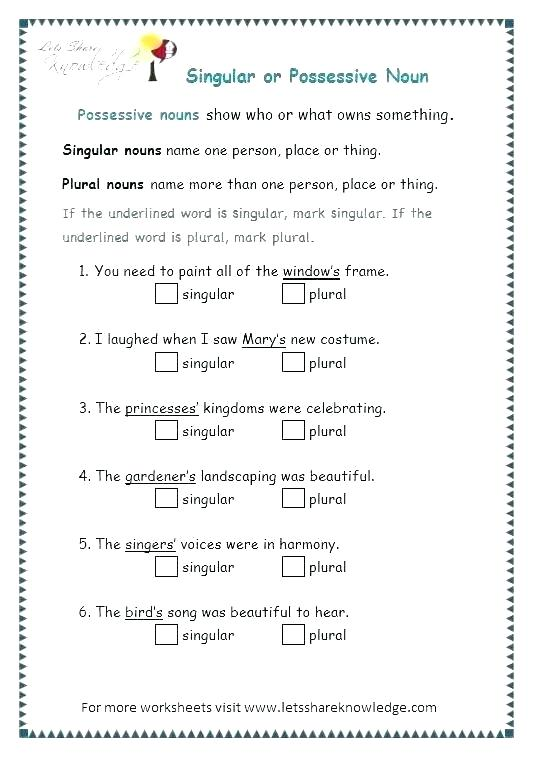 Singular Countable And Uncountable Nouns Worksheets With Answers