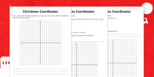 Year 6 Describe Positions On The Full Coordinates Grid Christmas