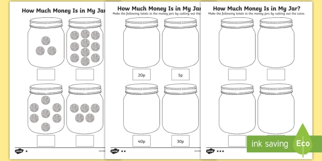 How Much Money Is In My Jar  Counting In 5s Differentiated
