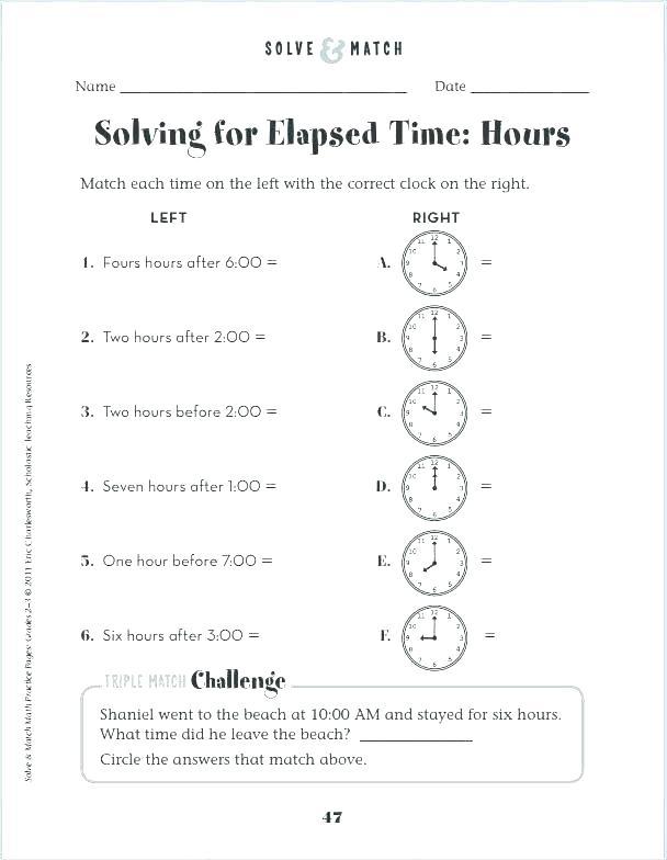 Teaching Time Worksheets Free Telling Time Worksheets Grade 4 Kids