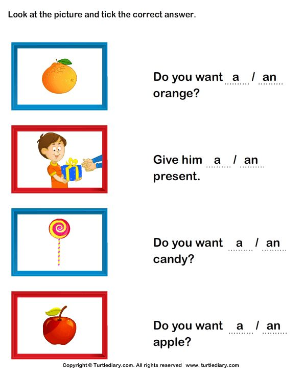 Transform Using A And An Worksheets For Kindergarten For Esl