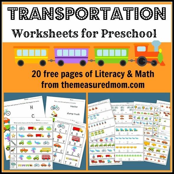 Free Printable Transportation Worksheets For Preschool