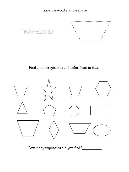 Free Trapezoid Worksheet