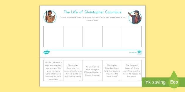 Life Of Christopher Columbus Worksheet   Worksheet