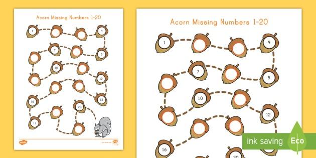 Acorn Missing Numbers 1