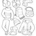 Winter Clothes For Kids Worksheets