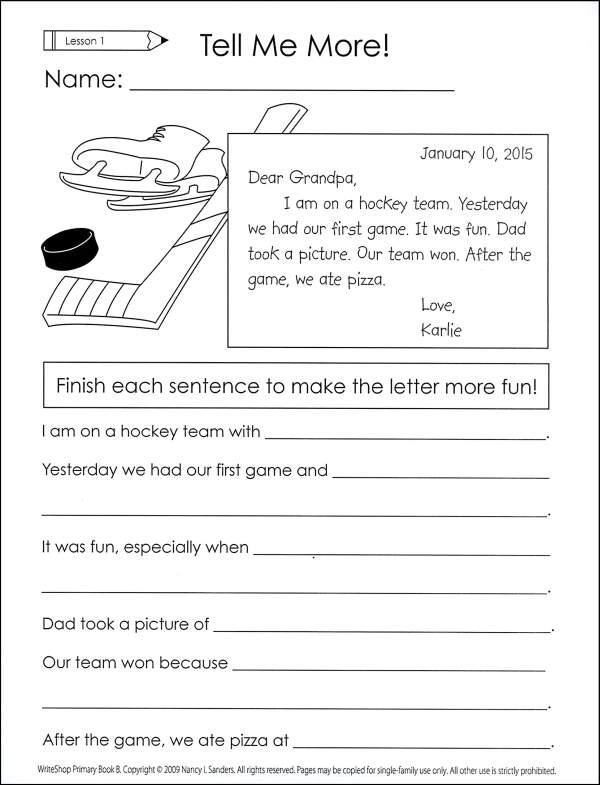 Writeshop Primary Book B Activity Set Worksheet Pack (043285