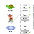 Worksheets For Preschool In Adjectives