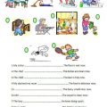 Present Continuous For Children-worksheets