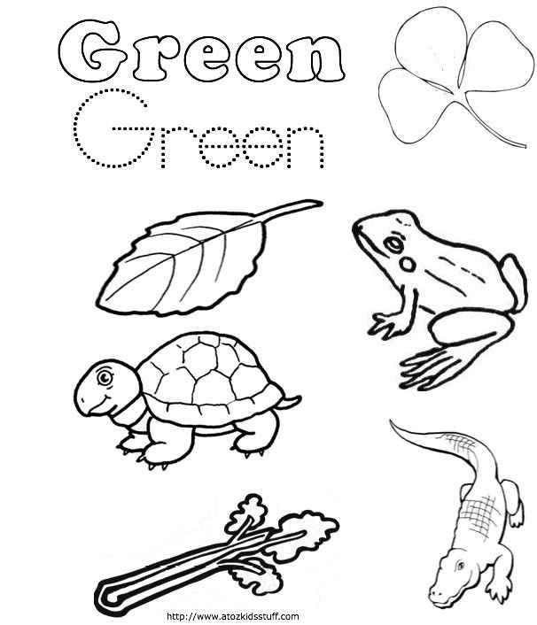 Green Color Word Worksheet