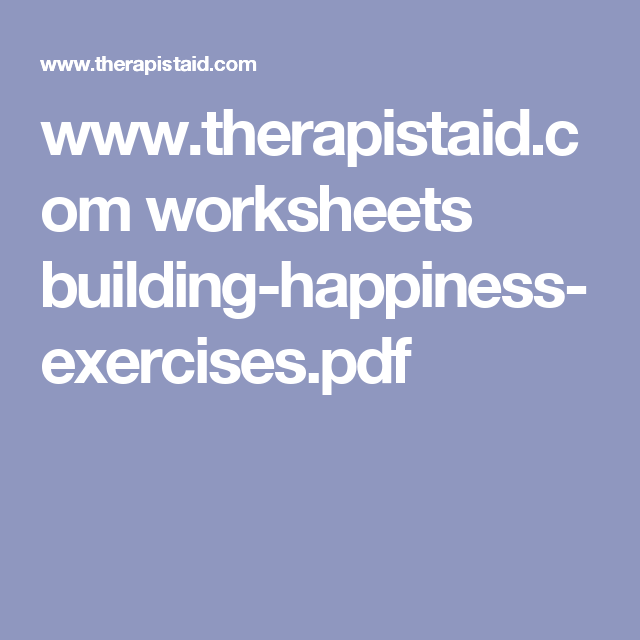 Www Therapistaid Com Worksheets Building