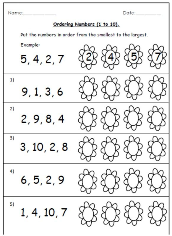 Free Ordering Worksheets And Number Cards  (1