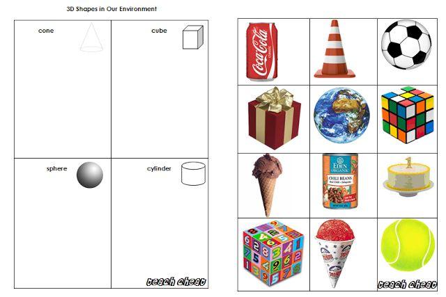 Teach Cheat  Maths  3d Shapes In Our Environment