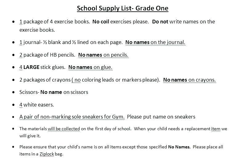 4th Grade School Supply List Nyc Supplies 5th Target Banning