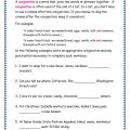 Conjunction Worksheets Grade 3