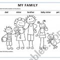 Worksheets Of Family Members