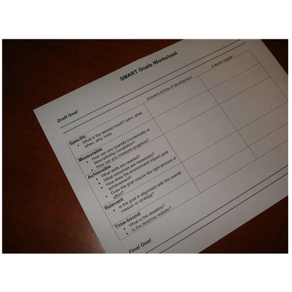 Sample Smart Goals Worksheet  Free Template For Download
