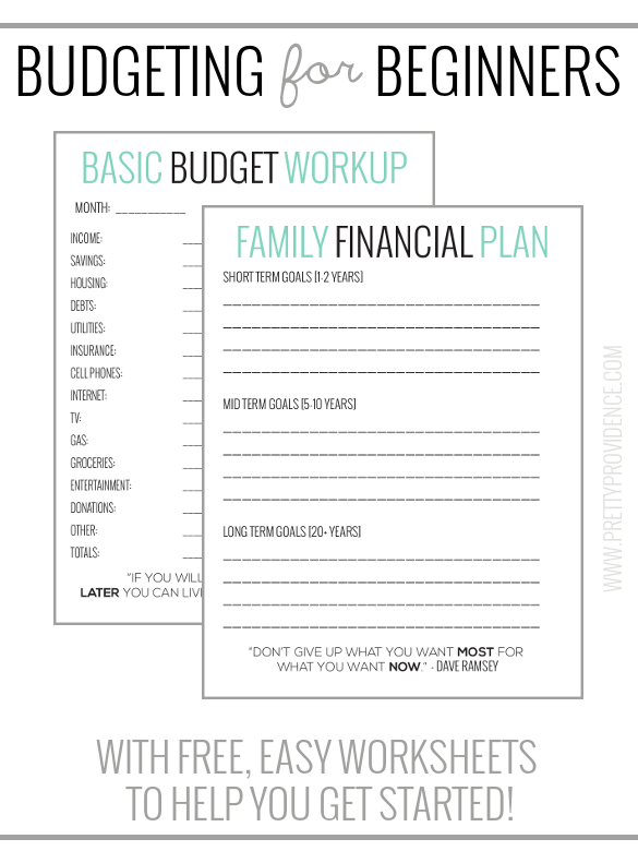 Basic Budgeting With Free Worksheets To Get You Started
