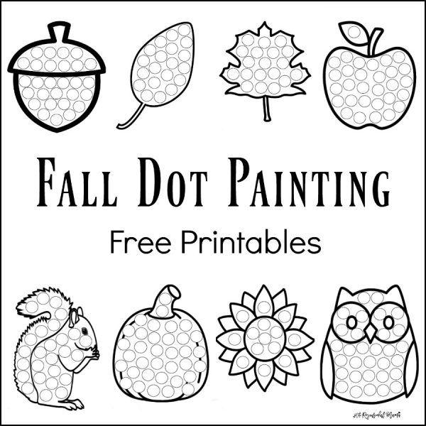 Fall Dot Painting {free Printables}