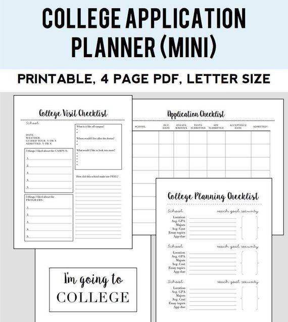 College Admissions Planner (small Kit) In 2019