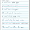 Cursive Handwriting Worksheets Sentences