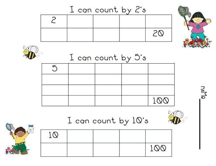 Printable Skip Counting Worksheets