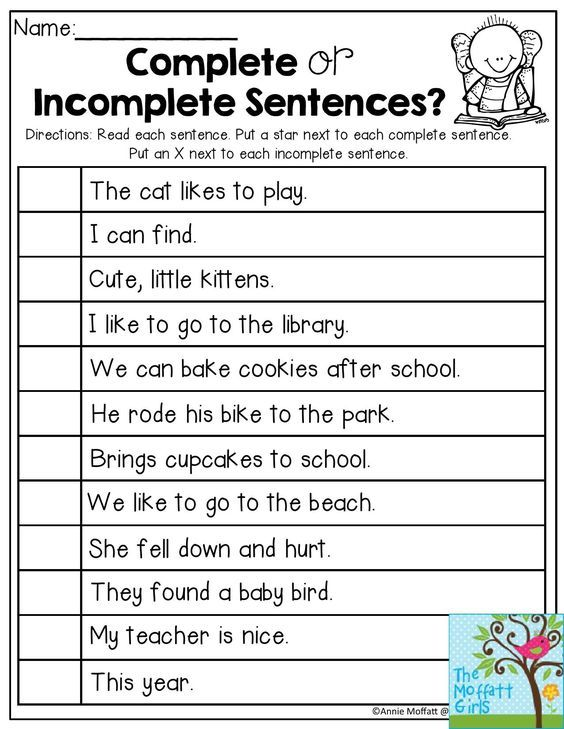 Complete Or Incomplete Sentences