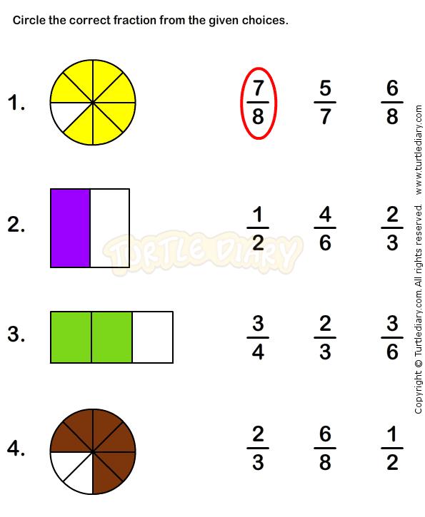 Fractions Worksheet 4