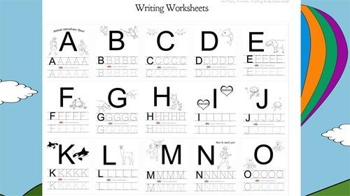 Free Printable Alphabet Worksheets From Animaladventurebook Com