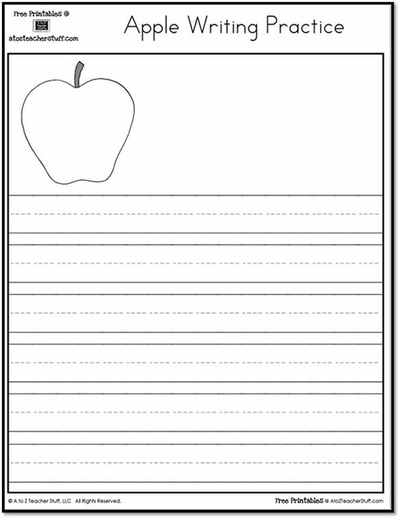 Printable Apple Writing Practice